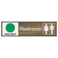 Restroom Available/In Use - Engraved Restroom Sliders