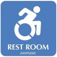 Restroom Sign w/ Wheelchair Symbol (Dynamic Accessibility)