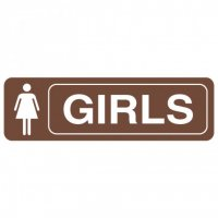 Restroom Signs - Girls
