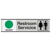 Restroom Vacant/Occupied - Bilingual Engraved Restroom Sliders