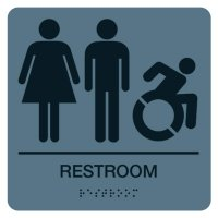 Unisex Bathroom Sign (Women, Men, Dynamic Accessibility)