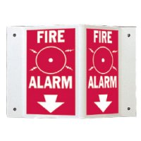 Rigid High Visibility Signs - Fire Alarm
