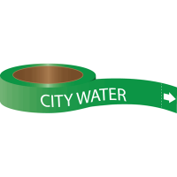 Roll Form Self-Adhesive Pipe Markers - City Water