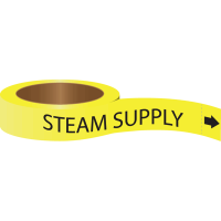 Roll Form Self-Adhesive Pipe Markers - Steam Supply