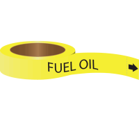 Roll Form Self-Adhesive Pipe Markers - Fuel Oil