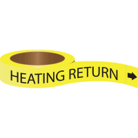 Roll Form Self-Adhesive Pipe Markers - Heating Return