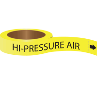 Roll Form Self-Adhesive Pipe Markers - Hi-Pressure Air