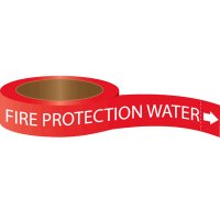 Roll Form Self-Adhesive Pipe Markers - Fire Protection Water
