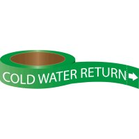 Roll Form Self-Adhesive Pipe Markers - Cold Water Return