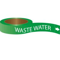 Roll Form Self-Adhesive Pipe Markers - Waste Water