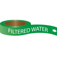 Roll Form Self-Adhesive Pipe Markers - Filtered Water