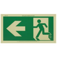 Running Man Signs - Arrow Left