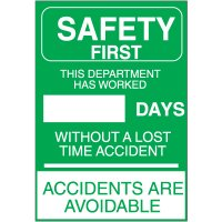 Accident Free Safety Signs