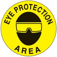 Safety Floor Markers - Eye Protection Area 17-1/2""