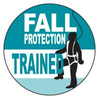 Safety Hard Hat Labels - Fall Protection Trained