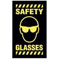 Safety Message Mat - Safety Glasses