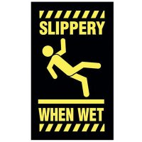 Safety Message Mat - Slippery When Wet