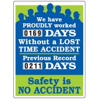 Large Safety Scoreboards - Dial-A-Day