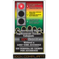 Safety Signal Scoreboards - We Have Proudly Worked (Bilingual)
