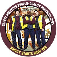 Safety Slogan Floor Markers - Safety Protects People