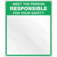 Safety Slogan Mirrors - Person Responsible For Your Safety
