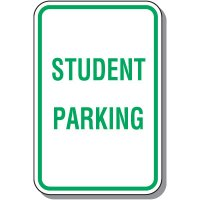 School Parking Signs - Student Parking