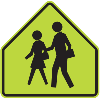 School Safety Sign - School Crossing Graphic