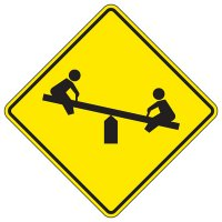 See Saw Graphic Playground Sign