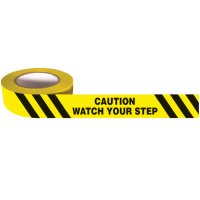 Self Adhesive Message Tape - Caution Watch Your Step