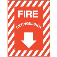 "Self-Adhesive Fire Extinguisher Sign - 9""W x 12""H"