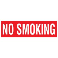 Adhesive Vinyl Fire Exit Signs - No Smoking
