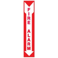 Adhesive Vinyl Fire Exit Signs - Fire Alarm