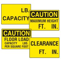 Semi-Custom Clearance and Capacity Signs