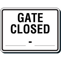 Semi-Custom Reflective Parking Lot Signs - Gate Closed