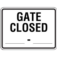 Semi-Custom Reflective Traffic Signs - Gate Closed