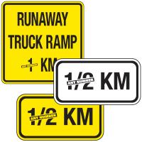 Semi-Custom Traffic Signs - Runaway Truck Ramp
