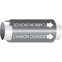 Setmark® Snap-Around Pipe Markers - Carbon Dioxide
