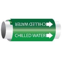 Setmark® Snap-Around Pipe Markers - Chilled Water