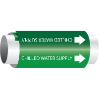 Setmark® Snap-Around Pipe Markers - Chilled Water Supply