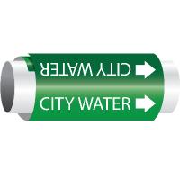 Setmark® Snap-Around Pipe Markers - City Water