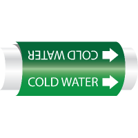 Setmark® Snap-Around Pipe Markers - Cold Water