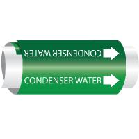 Setmark® Snap-Around Pipe Markers - Condenser Water