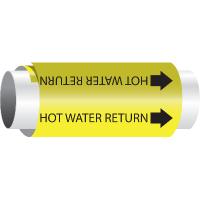 Setmark® Snap-Around Pipe Markers - Hot Water Return