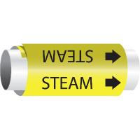 Setmark® Snap-Around Pipe Markers - Steam