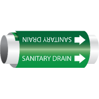 Setmark® Snap-Around Pipe Markers - Sanitary Drain