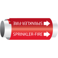 Setmark® Snap-Around Pipe Markers - Sprinkler-Fire