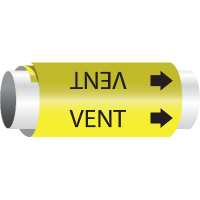 Setmark® Snap-Around Pipe Markers - Vent
