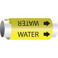 Setmark® Snap-Around Pipe Markers - Water