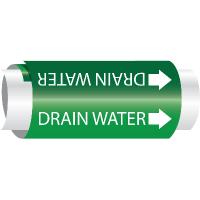 Setmark® Snap-Around Pipe Markers - Drain Water