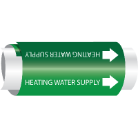 Setmark® Snap-Around Pipe Markers - Heating Water Supply